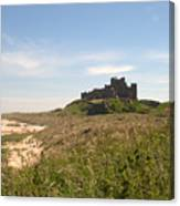 Bamburgh Castle And Beach In Summer Canvas Print