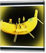 Banana Boat Mining Company Black Frame Canvas Print