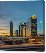 Banking Giants Too Atlanta Midtown Sunset Atlanta Georgia Art Canvas Print