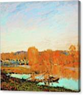 Banks Of The Seine Near Bougival - Digital Remastered Edition Canvas Print