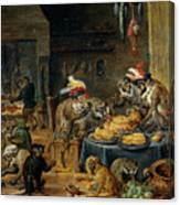 Banquete De Monos   Canvas Print