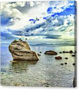 Bansai Rock, Lake Tahoe, Nevada, Panorama Canvas Print