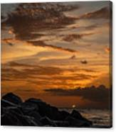 Barbados Sunset Clouds Canvas Print