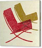 Barcelona Chairs I Canvas Print