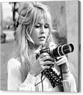 Bardot During Viva Maria Shoot Canvas Print