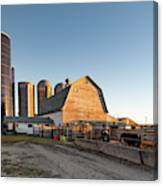 Barn And Silos Canvas Print