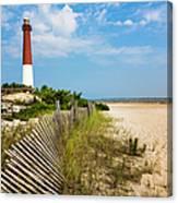 Barnegat Lighthouse, Sand, Beach, Dune Canvas Print