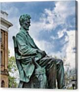 Bascom Hall Lincoln Statue Canvas Print