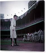 Baseball Great Babe Ruth, In Uniform Canvas Print
