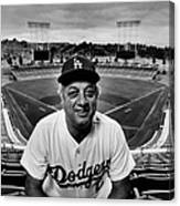 Baseball Manager Tommy Lasorda Portrait Canvas Print