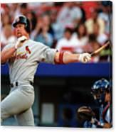 Baseball - Mark Mcgwire Canvas Print