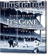 Baseball New York Yankees Micke... Sports Illustrated Cover Canvas Print