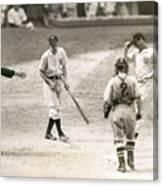 Baseball Star Joe Dimaggio Canvas Print