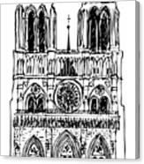 Basilica Notre Dame Canvas Print