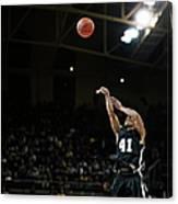 Basketball Player Shooting Jump Shot In Canvas Print