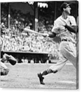 Batter Stan Musial And Catcher Wes Canvas Print