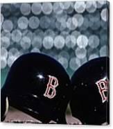Batting Helmets Canvas Print