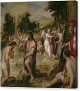 Bautismo De Cristo   Canvas Print