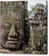 Bayon Faces, Angkor Wat, Cambodia Canvas Print