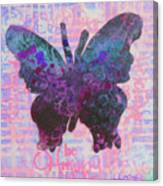 Be Happy Butterfly Canvas Print