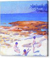 Beach At Cabasson - Digital Remastered Edition Canvas Print