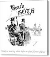 Beach Goth Canvas Print
