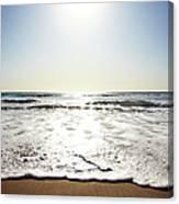 Beach In California On Pacific Ocean Canvas Print