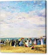 Beach Of Trouville - Digital Remastered Edition Canvas Print