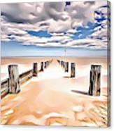 Beach Perpective Canvas Print