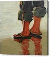 Beach Pose Canvas Print