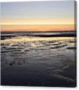 Beach Sunset, Blackpool, Uk 09/2017 Canvas Print