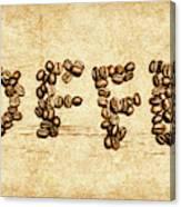 Bean Making Coffee Canvas Print