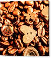 Beans And Buttons Canvas Print