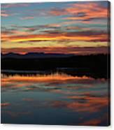 Bear River Sunset Canvas Print