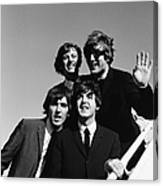 Beatles Arriving At Los Angeles Airport Canvas Print