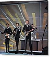 Beatles On Us Tv Canvas Print