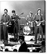 Beatles Perform In Washington, D.c Canvas Print