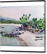 Beautiful Beach In Goa India Canvas Print