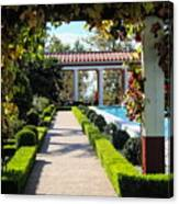 Beautiful Courtyard Getty Villa  Canvas Print