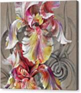 Beautiful Fantastic Realistic Flowers Canvas Print