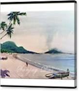 Beautiful Goa Beach Canvas Print