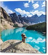 Beautiful Moraine Lake In Banff Canvas Print