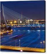 Beautiful Twilight View On The Bridges Canvas Print