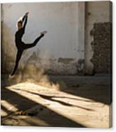 Beautiful Young Ballerina Dancing In Canvas Print