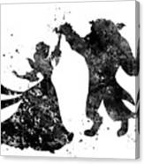 Beauty And The Beast Dancing Canvas Print