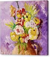 Beauty On Bouquet Canvas Print