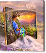 Becoming Part Of The Story In Watercolors Canvas Print