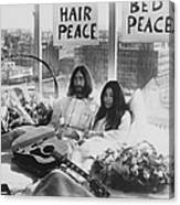 Bed-in For Peace Canvas Print