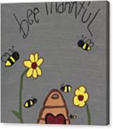 Bee Thankful Canvas Print