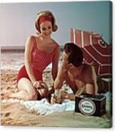 Beer On The Beach Canvas Print